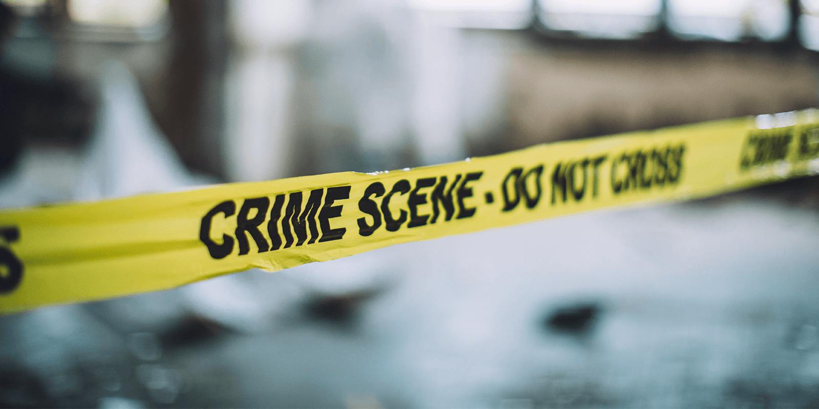 Yellow Police Tape Reads Crime Scene Do Not Cross District 1199J 9 25 Alling Street